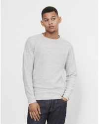 Only & Sons - Satre New Crew Neck Grey - Lyst