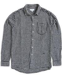 Soulland - Greene Checked Shirt Black & White - Lyst