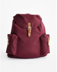 The Idle Man - Vintage Rucksack Burgundy - Lyst