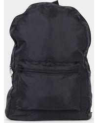 The Idle Man - Packaway Backpack Black - Lyst
