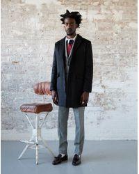 The Idle Man - Black Overcoat - Lyst