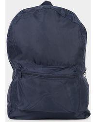 The Idle Man - Packaway Backpack Navy - Lyst