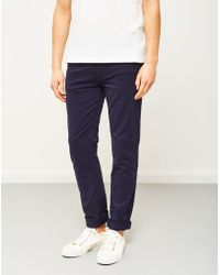 The Idle Man - Slim Fit Chino Navy - Lyst