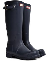HUNTER - Original Tall Rain Boot Navy - Lyst