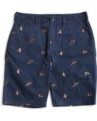 Barbour - Feature Emb Short Navy - Lyst