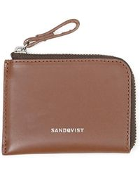 Sandqvist - Eben Leather Wallet Brown - Lyst