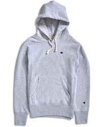 Champion - Classic Reverse Weave Hoodie Grey - Lyst