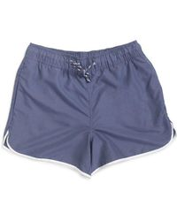The Idle Man - Swim Shorts Navy - Lyst