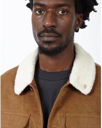 Farah - Borg Collar Jacket - Lyst