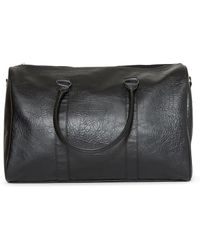 The Idle Man - Leather Look Overnight Bag Black - Lyst