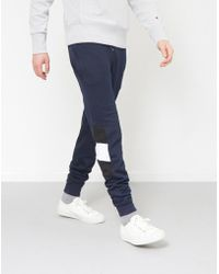 The Idle Man - Contrast Panel Jogger Navy - Lyst