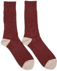Anonymous Ism - Tweed Knitted Yarn Crew Sock - Lyst