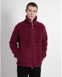 Albam - Fleece Zip Through Rasberry - Lyst