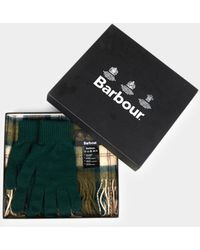 Barbour - Scarf & Glove Gift Set Ancient Grey - Lyst