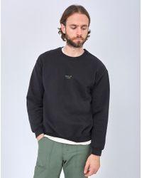 The Idle Man - Sunday Club Embroidery Sweatshirt Black - Lyst