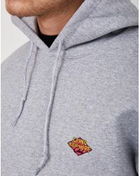 The Idle Man - Going Nowhere Club Diamond Embroidered Over Head Hoodie Grey - Lyst