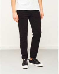 The Idle Man - Slim Fit Chino Black - Lyst