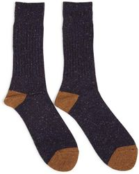 Anonymous Ism - Ribbed Wool-blend Socks - Lyst