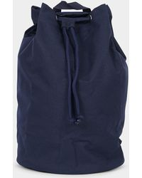 The Idle Man - Drawstring Backpack Navy - Lyst