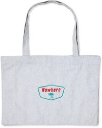 The Idle Man - Nowwhere Tree Tote Grey - Lyst
