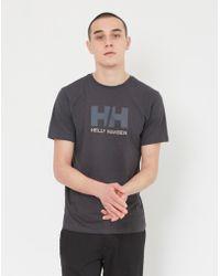 Helly Hansen - Logo T-shirt Black - Lyst