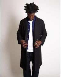 Saturdays NYC - Saul Double Breasted Top Coat Black - Lyst