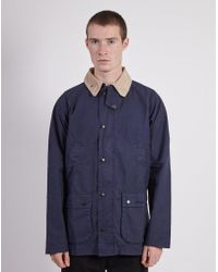 Barbour - Made For Japan Washed Slim Bedale Navy - Lyst