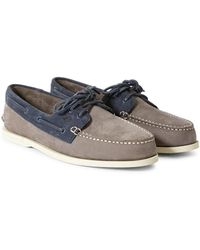 Sperry Top-Sider - Two Tone 2 Eye Boat Shoe Grey & Navy - Lyst