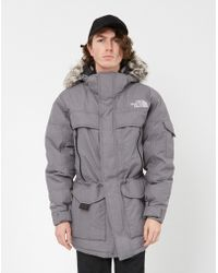The North Face - Mc Murdo 2 Jacket Grey Men's Parka In Grey - Lyst