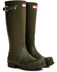 HUNTER - Original Tall Rain Boot Green - Lyst