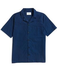 Folk - Short Sleeve Soft Collar Shirt Navy - Lyst