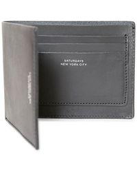 Saturdays NYC - Bi-fold Wallet Black - Lyst