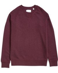 The Idle Man - Organic Raglan Sweatshirt Purple - Lyst
