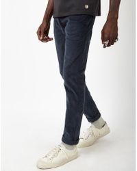 Farah - Corduroy Jeans Navy - Lyst