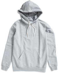 Soulland - Guy Hooded Embroidered Logo Sweatshirt Grey - Lyst