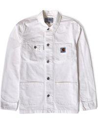 Carhartt WIP - Michigan Chore Coat White - Lyst