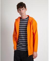 Rains - Breaker Jacket - Fire Orange - Lyst