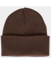 4a6b90a4632 Vans Milford Beanie Brown in Yellow for Men - Lyst