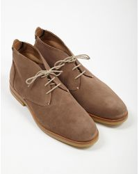 Hudson Jeans - Bedlington Suede Chukka Boot Taupe - Lyst
