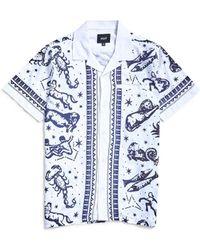 Huf - Zodiac Short Sleeve Shirt White - Lyst