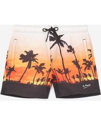 efae3ae4f0 The Kooples - Printed Swim Shorts With Zipped Pockets - Lyst