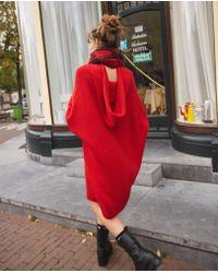 The Kooples - Oversized Red Hoodie - Lyst