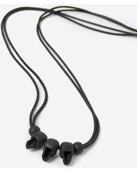 The Kooples - Cord Necklace With Black Skulls - Lyst
