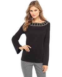 The Limited - Scoop Back Bell Sleeve Blouse - Lyst
