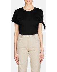 JW Anderson - Single Knot Tee With Silk Sleeve - Lyst