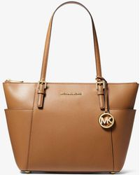 9a371725fe09 Michael Kors Michael Jet Set Item Large Gathered Tote in Black - Lyst