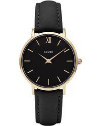 Cluse - Minuit Gold Black - Lyst