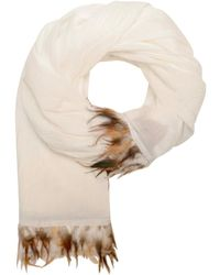 Unmade Copenhagen - Pleated Feather Scarf - Lyst