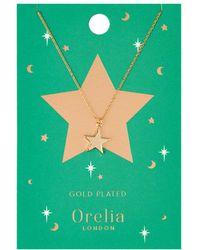 Orelia - Chunky Star Charm Necklace - Lyst
