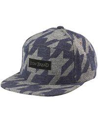 05fe9b16b0 Love Moschino Check Cap in White for Men - Lyst